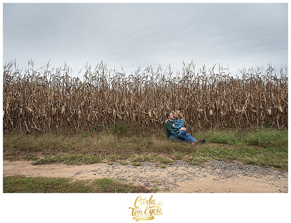 Rustic engagement session on a farm in Suffield CT