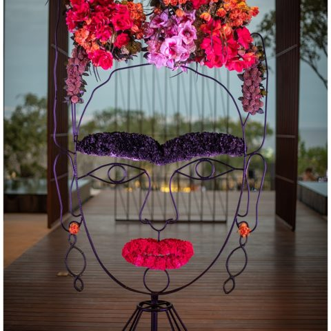 Frida Kahlo inspired floral centerpieces at Solaz Los Cabos Luxury Resort Mexico at the Engage Wedding Summit