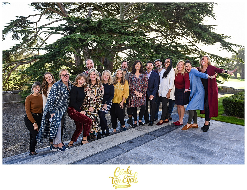 Team Engage on the steps of Adare Manor in Adare Village County Limerick Ireland