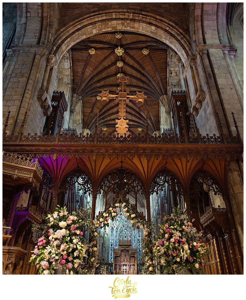 Wedding in Selby Abbey Yorkshire UK