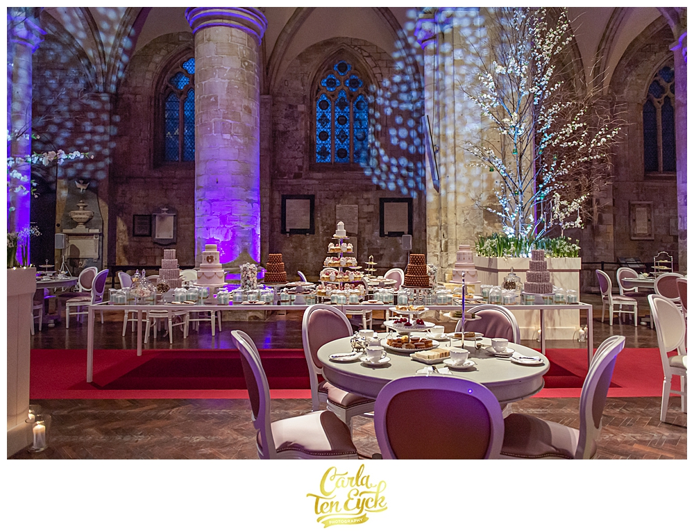 High tea at a wedding at Selby Abbey in Yorkshire UK with Sarah Haywood